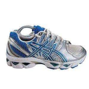 Asics Gel Nimbus 12 Running Shoes Silver Blue Whit